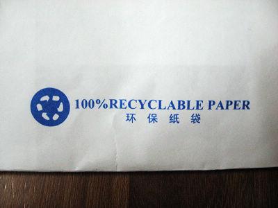 环保的纸袋