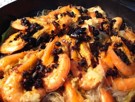 铁板蒜蓉豉汁虾