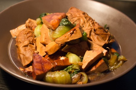 马兰香干烩青菜