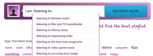 playlistnow Showcase of Beautiful Search Box UI Designs